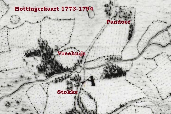 Vreehuijs Lattrop Hottingerkaart 1773-1794