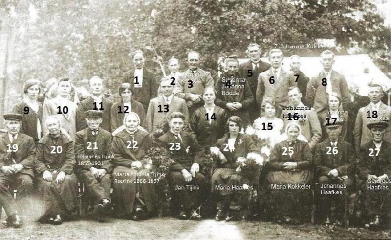 Huwelijk Jan Tijink en Maria Haafkes Tilligte 19-10-1929