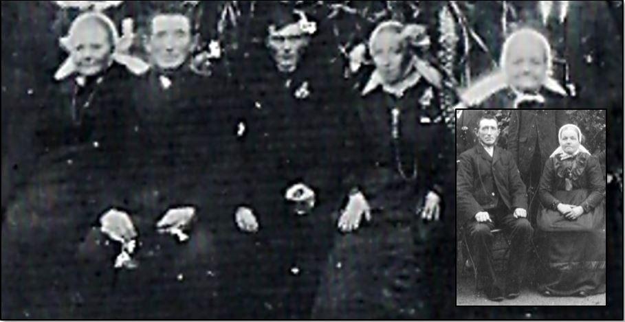 Huwelijksfoto Herman Budde en Marie Beijerink Tilligte 1917