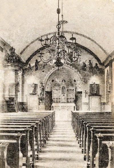 Interieur RK Kerk (Waterstaatskerk) Lattrop