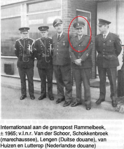 Internationaal aan de grenspost Rammelbeek bij Denekamp