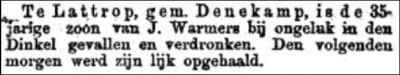 'Nieuws van de dag' van 7 januari 1889