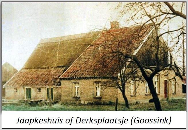 Jaapkeshuis of Derksplaatsje (Goossink) in Breklenkamp