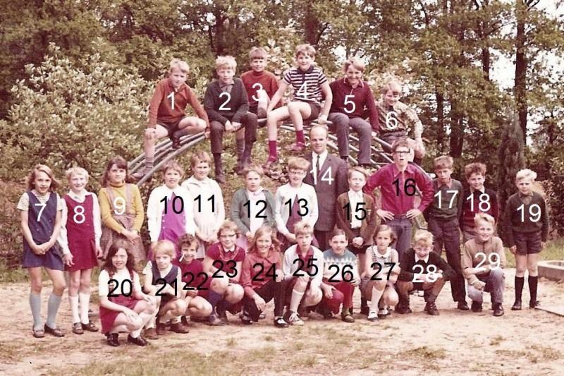Groepsfoto lagere school in Lattrop Jaar onbekend (Fotoarchief ter Brake Breklenkamp)