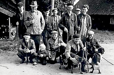 Jagersgroep Tilligte bij Bodde op Maseland jaar onbekend