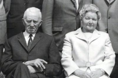 Jan Evert Pil en Grete Zwafink op Eekman in Buurtschap Denekamp