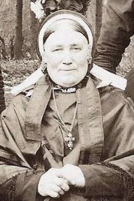 Joanna (Hanna) Bodde-Roelink Lattrop 1844-1910 Foto ca 1900