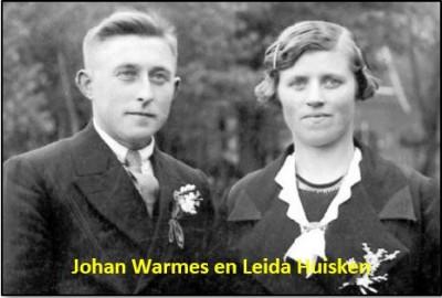 Johan Warmes en Leida Huisken in Lattrop