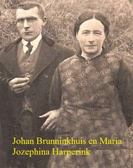 Johan Brunninkhuis (1889-1968 )en Maria Jozephina Harperink (1886-1933) op Getskaamp in Tilligte