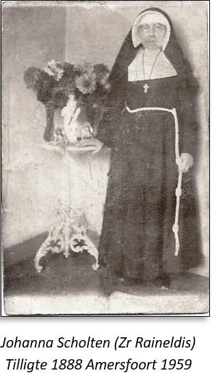 Johanna Scholten Zr Reinaldis Tilligte 1888 Amersfoort 1959