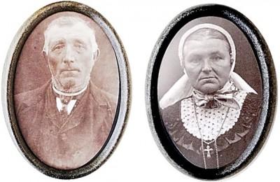 Johannes Roelink en Hendrika Maria Braakhuis op Vootsmid in Lattrop