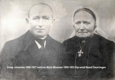 Johannes Zwiep 1858-1927 smid en Maria Bloemen 1855-1933 Kip-smid Noord Deurningen