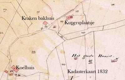 Kadasterkaart 1832 Kupersplaatsje Lattrop