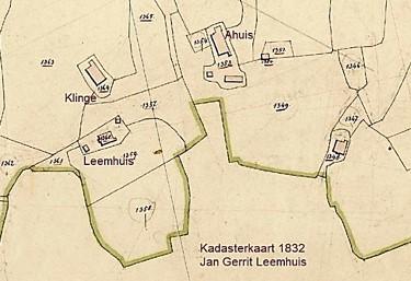 Kadasterkaart 1832 Leemhuis Noord Deurningen