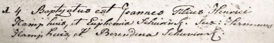 Kamphuis Joannes zv Henricus Kamphuis en Euphemia Schurink 14-12-1789