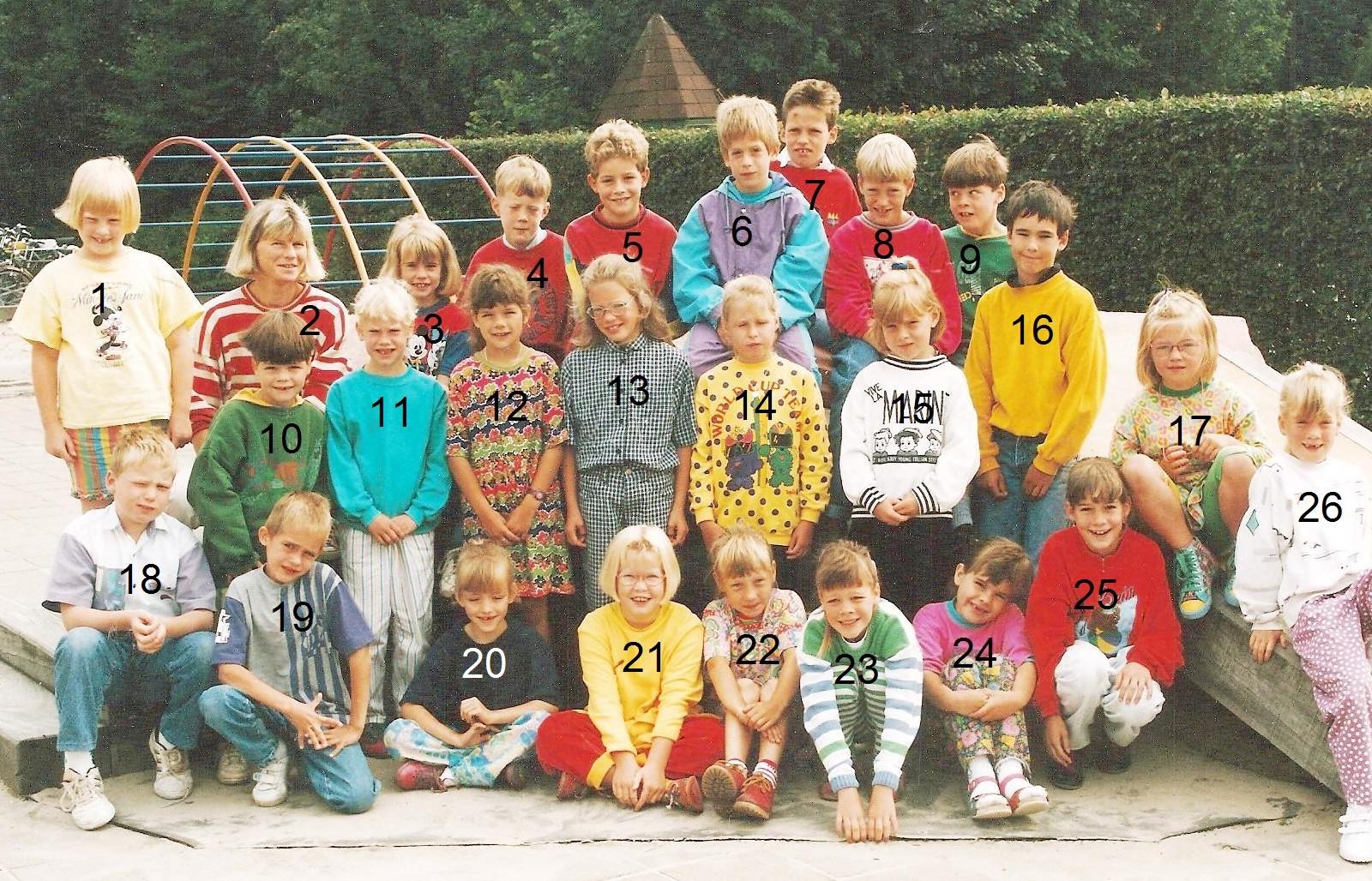 Klassenfoto school Lattrop 1992-1993