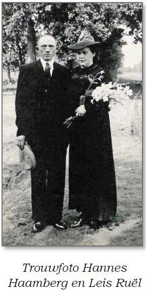 Trouwfoto Hannes Haamberg en Leis Ruël 1946