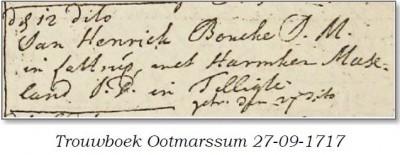 Trouwboek Ootmarssum 27-09-1717