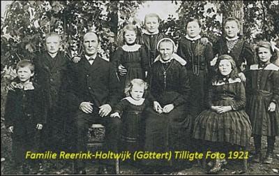 Familie reerink-Holtwijk (Göttert) Tilligte Foto 1921