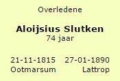 Aloijsius Slutken 1815-1890