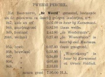 Koop erf de Weerd Breklenkamp door Hendrik Karnemaat 1901