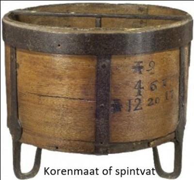 Korenmaat of spintvat Pikkemaat op Broekhuis Klein Agelo
