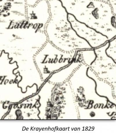 Krayenhofkaart 1829 Scholte Lubberink Lattrop