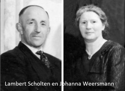 Lambert Scholten en Johanna Weersmann in Breklenkamp