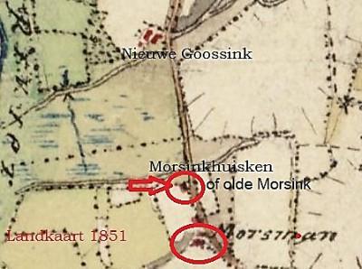 Landkaart 1861 olde Morsink in Lattrop