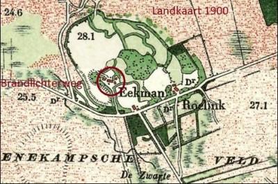 Landkaart 1900 Eekman Boerschap Denekamp