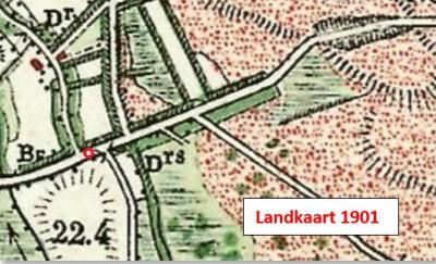Landkaart 1901 Nordhornsedijk