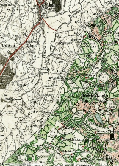 Landkaart 1901 van Breklenkamp