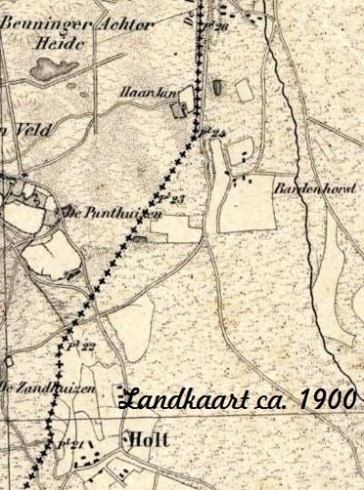 Landkaart Holt und Haar ca 1900