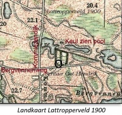 Landkaart Lattropperveld 1900