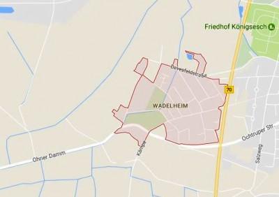 Landkaart Rheine-Wadelheim Duitsland