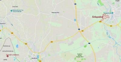 Landkaart Schepsdorf-Lattrop