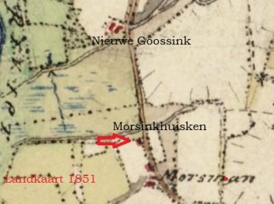 Landkaart 1851 Morsman en omgeving