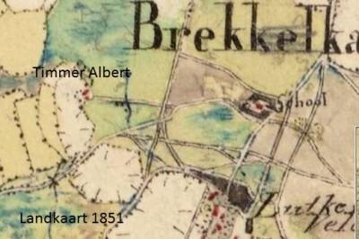 Landkaart 1851