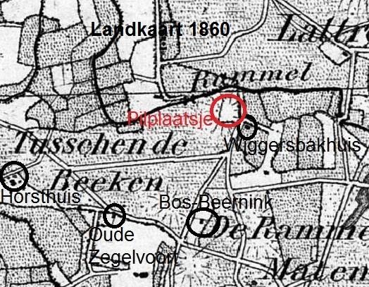 Landkaart Rammelbeek Maten Lattrop 1860