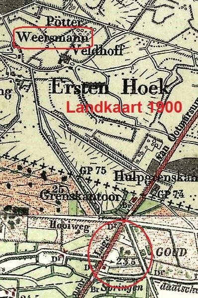 Landkaart 1900