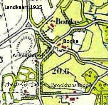 Landkaart Lattrop 1935