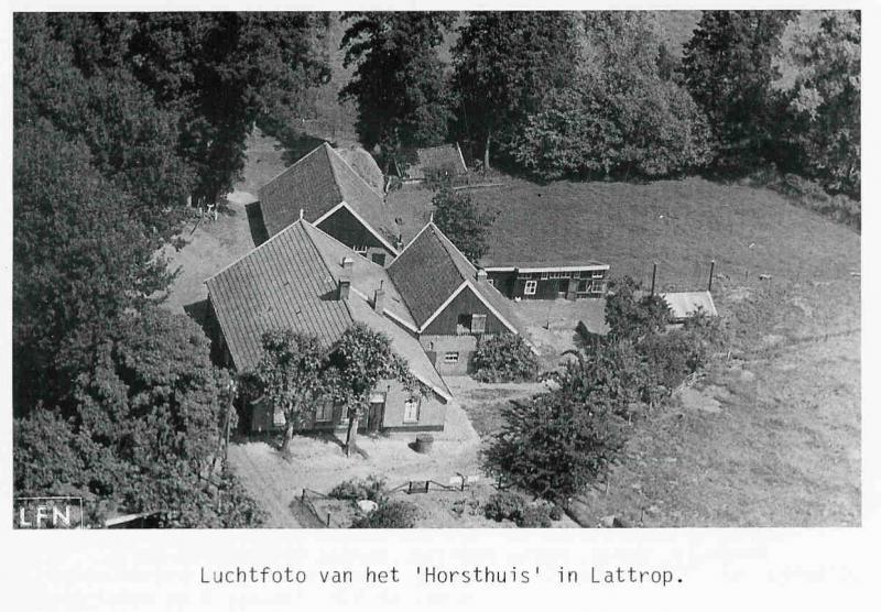 Luchtfoto Horsthuis (Hösboer) in Lattrop