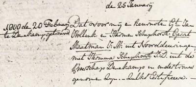 Maatman Gerrit en Hermina Schiphorst 25-01-1800
