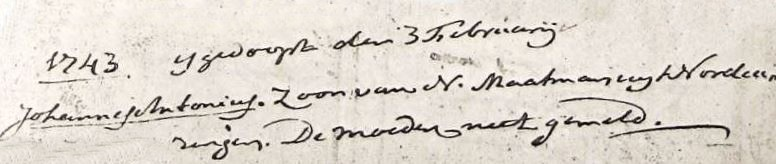 Maatman Johannes Antonius zv N Maatman en Nn 03-02-1743