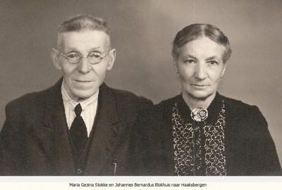 Maria Gezina Stokke en Johannes Bernardus Blokhuis naar Haaksbergen