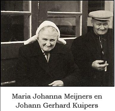Maria Johanna Meijners en Johann Gerhard Kuipers