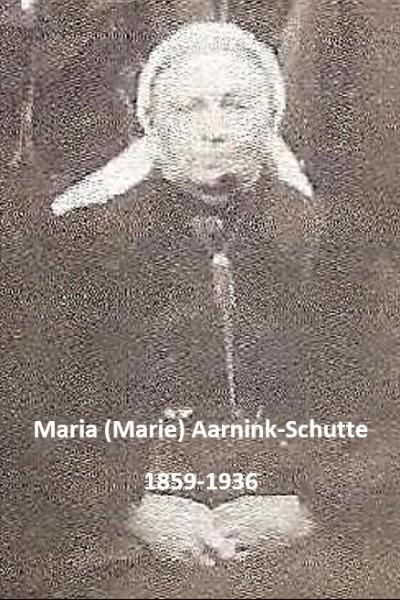 Maria (Marie) Aarnink-Schutte Tilligte 1859-1936