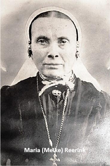 Maria (Meike) Reerink 1859-1933 op olde Morsink in Lattrop, naar Lölf in Oud Ootmarsum