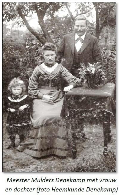 Meester Mulders Denekamp met vrouw en dochter