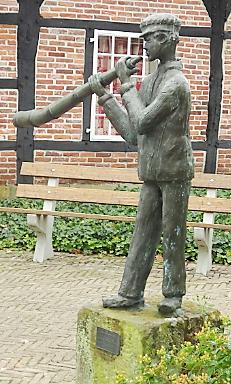 Midwinterhoornblazer in Ootmarsum